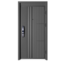 Top Security Waterproof Balck Steel Security Door