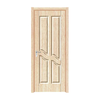 FPL-4002 Customize Size High End Accepted Oem Pvc Finished Bathroom Door