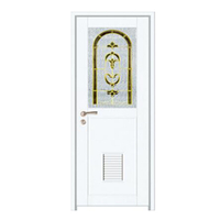 FPL-7015 Aluminum Bathroom Half Glass Design Swing Door Interior Door