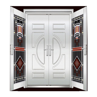 FPL-S50178 House Main Gate Double Leaf Double Swing Stainless Steel Door With Factory Price