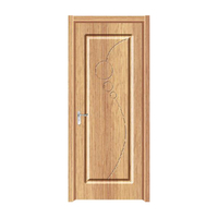 FPL-4020 Surface Finished Swing Open Style PVC Wooden Door Interior Door