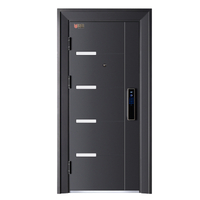 Modern Style Balck Steel Security Door