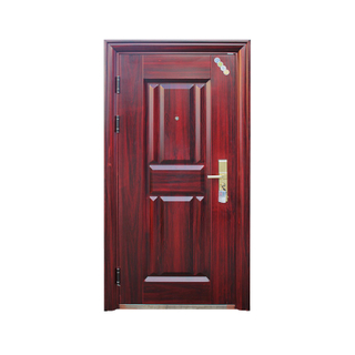 Red Anti-rust Surface Steel Security Door
