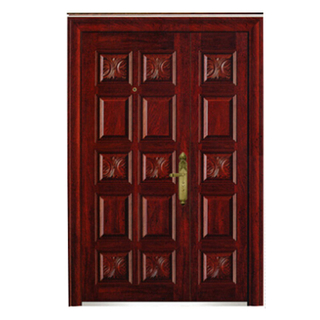 FPL-Z70288 Double Leaf Steel Metal Armored Door