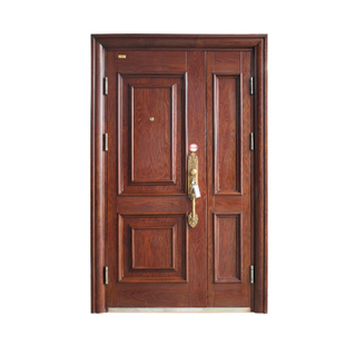 Unequal Double Security Steel Door