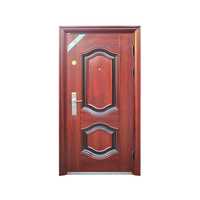 Courtyard Half Single Leaf Double Swing Door