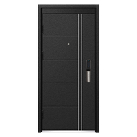 Modern Apartment Black Steel Security Door