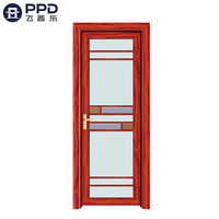 FPL-7004 Custom Fiberglass Modren Simple Design Aluminium Bathroom Door