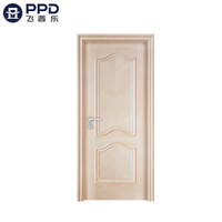 PHIPULO Contemporary External Oak MDF Melamine Wooden Door
