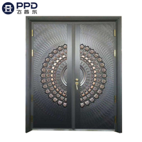 FPL-8006 Double Leaf Stainless Steel Panel Aluminium Cast Door
