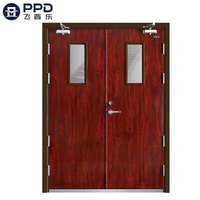 FPL-H5019 Wood Pattern Emergency Double Leaf Fire Rated Steel Door
