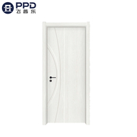 PHIPULO Custom Modern French Bedroom WPC Wooden Door