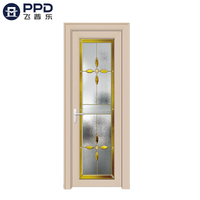 FPL-7002 Fiberglass High Quality Interior Bathroom Aluminium Alloy Door