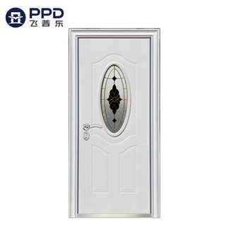 High Quality Reinforced White New Design Steel Security Door